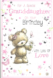 Granddaughter Birthday Large Bear Butterfly