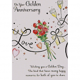 Golden Anniversary - Pink Roses