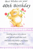 40th Birthday - Female Bear Rose