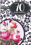70th Birthday Female Pink Roses