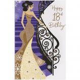 18th Birthday - F Lge Gold Dress