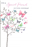 Special Friend Birthday Butterfly's Tree