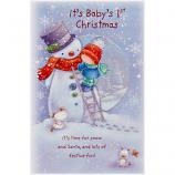Babys 1st Xmas - Boy/Snowman