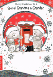 Grandma & Grandad Christmas - Bears Post Box