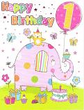 Girl Age 1 - Pink Elephant