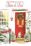 Mum & Dad Christmas - Red Door/Cat