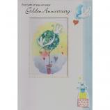 Golden Anniversary - White Doves