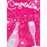 Congratulations - Pink Champagne