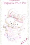 Daughter & Son-in-law Anniversary - White Rabbits