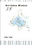 Boy age 15 Boy Sitting