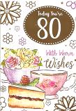 80th Birthday F Cake