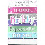 Mum 40th Birthday - 3D Birthday