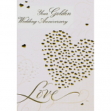 Golden Anniversary - Gold Hearts