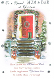 Mum & Dad Christmas Lge - Red Door/Boots
