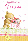 Mothers Day Mum - Bear/Flowers