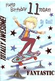 Boy Age 11 Skateboard