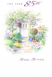 85th Birthday - F Mauve Door