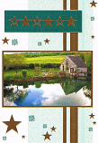 Blank Card - Gold Stars