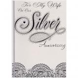 Wife Silver Anniversary - Silver/Diamante