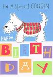 Cousin Birthday - White Dog