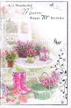 Mum 70th Birthday Large - Pink Bow