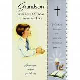 Grandson Communion - Boy/Cross