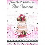 Silver Anniversary - Wedding Cake