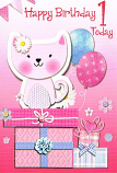 Girl Age 1 - Pink Kitten