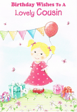 Cousin Birthday - Girl/Flags