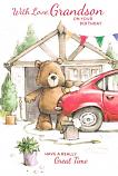 Grandson Birthday - Car Washing