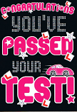 Passing Driving Test - Pink Wording