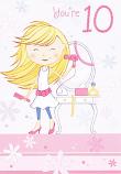 Girl Age 10 - Girl / Hairdryer