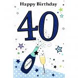 40th Birthday - M Lge Blue 40