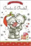 Grandma & Grandad Christmas - 2 Bears flowers