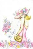 Blank Card - Pink Dress