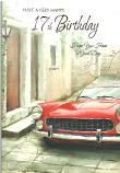 Boy Age 17 Birthday Red Car