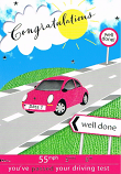 Passing Driving Test Female - Red Car