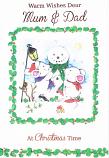 Mum & Dad Christmas - White Mice/Snowman