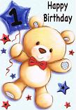 Boy Age 1 - Bear/Balloon