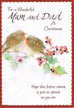 Mum & Dad Christmas - Robins/Holly