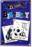 21st Birthday - Male Pattern Birthday