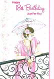 18th Birthday - Female Lady/Parasol