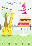 Girl Age 1 - Candle / Cake
