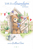 Grandson Birthday - Bear/Shed