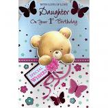 Daughter 1st Birthday - Bear/Butterflies