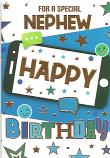Nephew Birthday Gold Happy