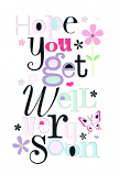 Get Well - Pattern Letters