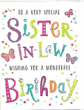Sister-in-Law Birthday Pattern Words