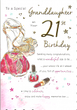 Granddaughter 21st Birthday Large Shoes Bag